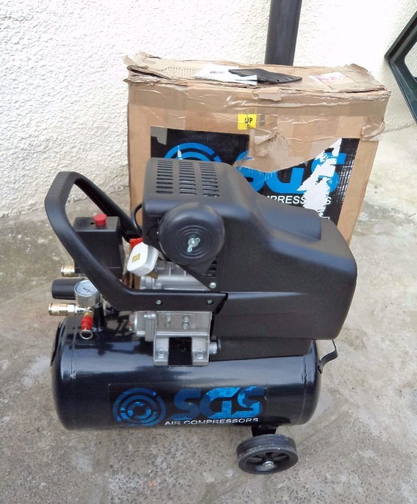 24 Ltr Air Compressor - 9.6CFM, 2.5HP, 24L SGS Compressors SC24H