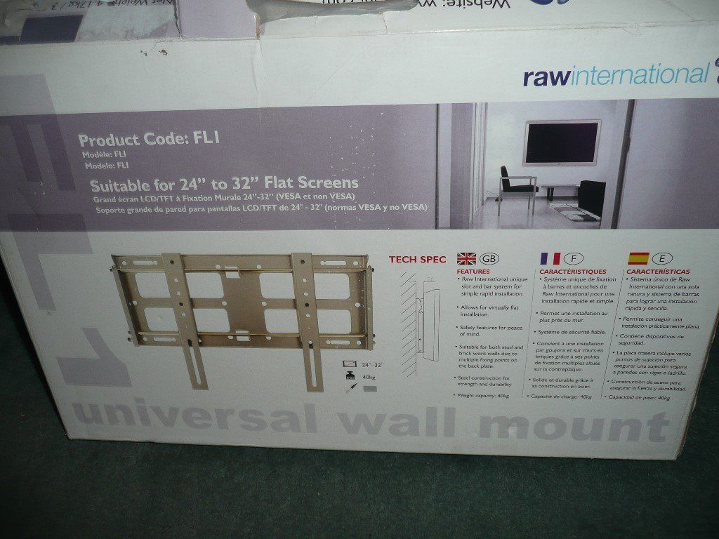 TV wall bracket for 24 to 32 inch TV