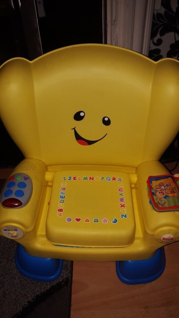 Childrens educational and musical chair. Teaches letters ,shapes, colours and numbers.