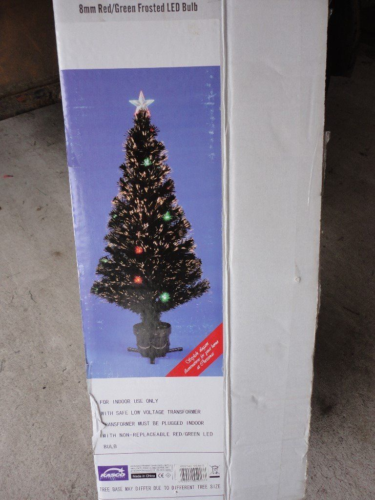 Black Fibre Optic Christmas Tree