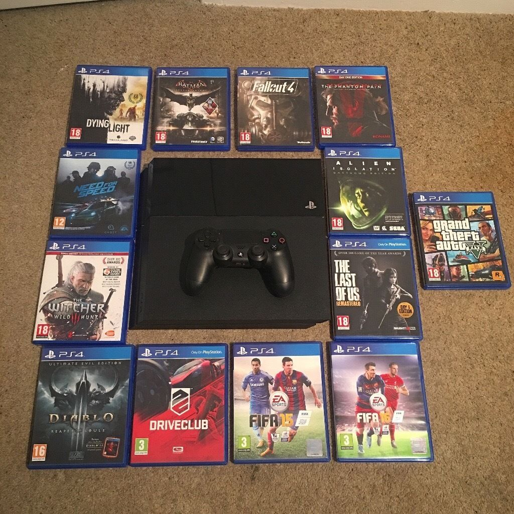 PlayStation 4 console and 13 games for sale