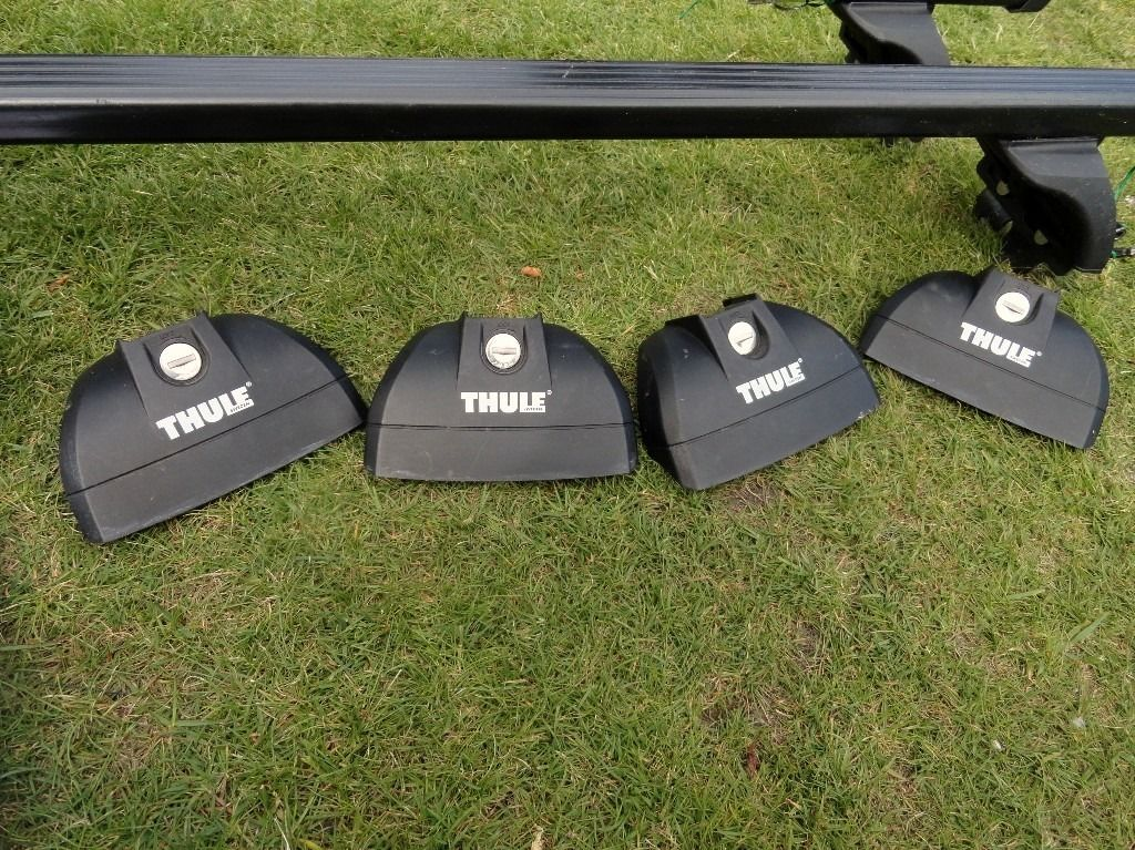Thule roof rack ( 2 bars) and necessary parts to fit Vauxhall Corsa and more - see list