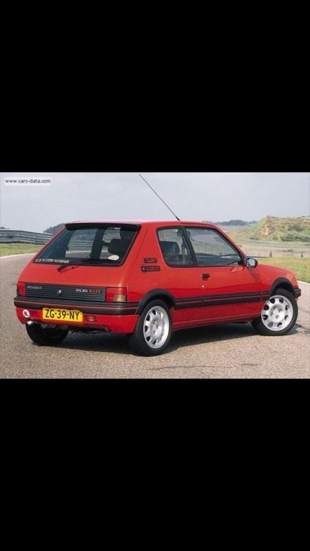 Wanted Peugeot 205 GTi interior and arches