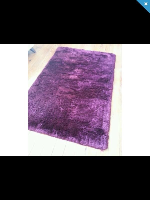NEXT Purple Fluffy Shaggy Rug Large