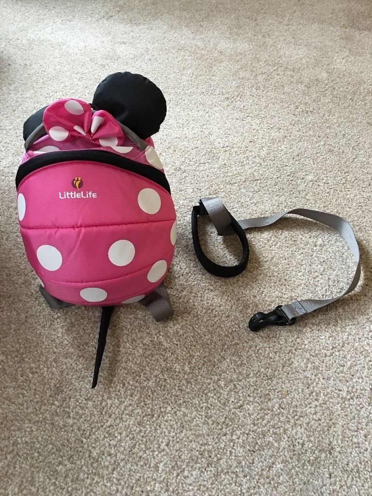 Little Life Minnie Mouse Toddler backpack with detachable reins