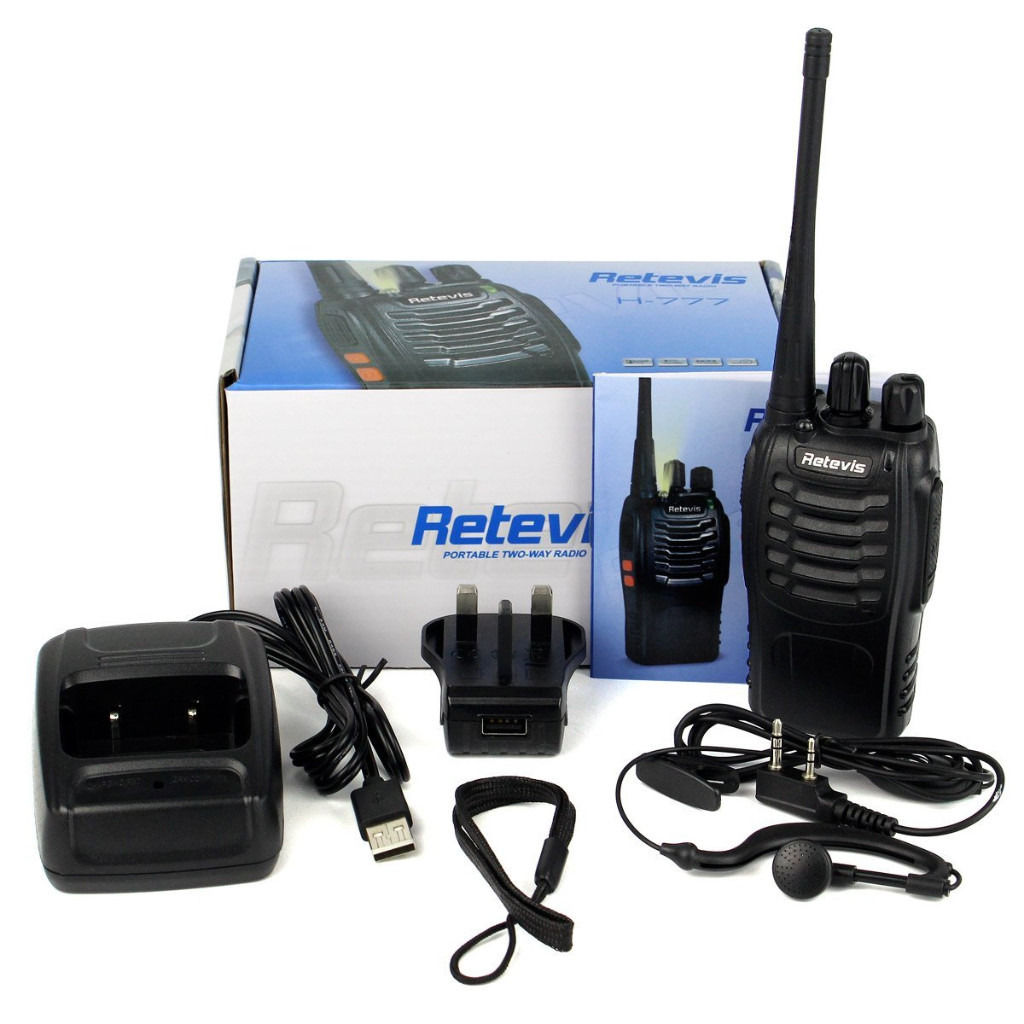 2X Retevis H-777 (16 Channels) Two Way Radio WALKIE TALKIE