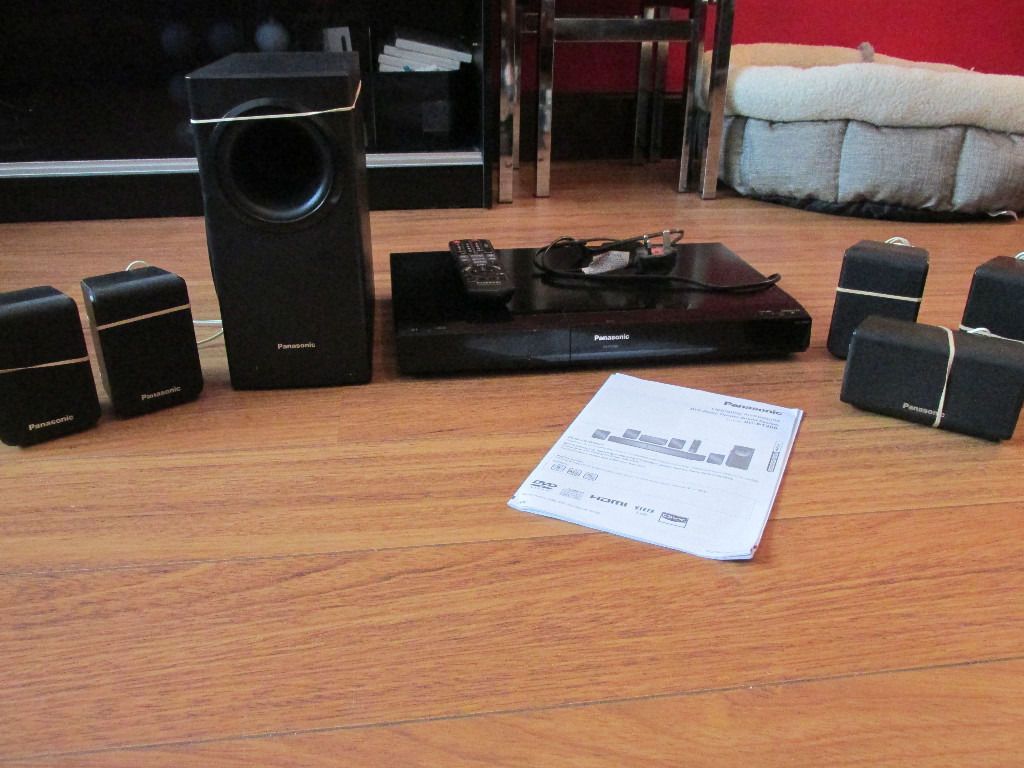 Panasonic DVD Home Theatre Sound System Model SC-PT480 (with iPod dock)
