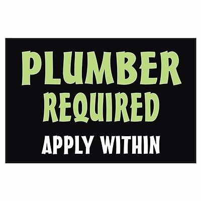 Plumber required for immediate start