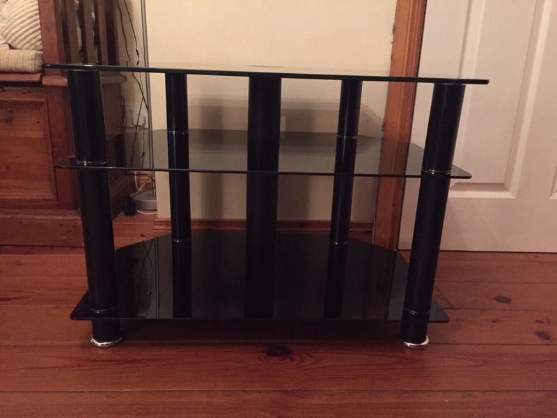 Glass tv table/cabinet