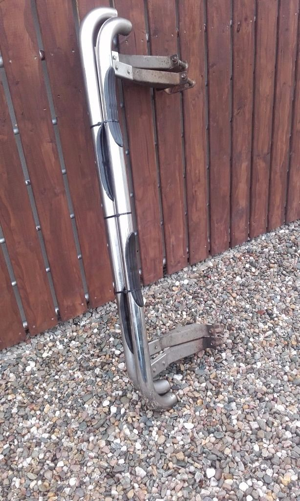 **** SET OFF CHROME SIDE STEPS FOR 2004 SUZUKI VITARA COMPLETE READY TO FIT ****