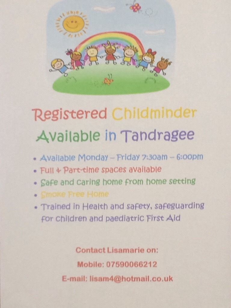 Registered childminder available in Tandragee