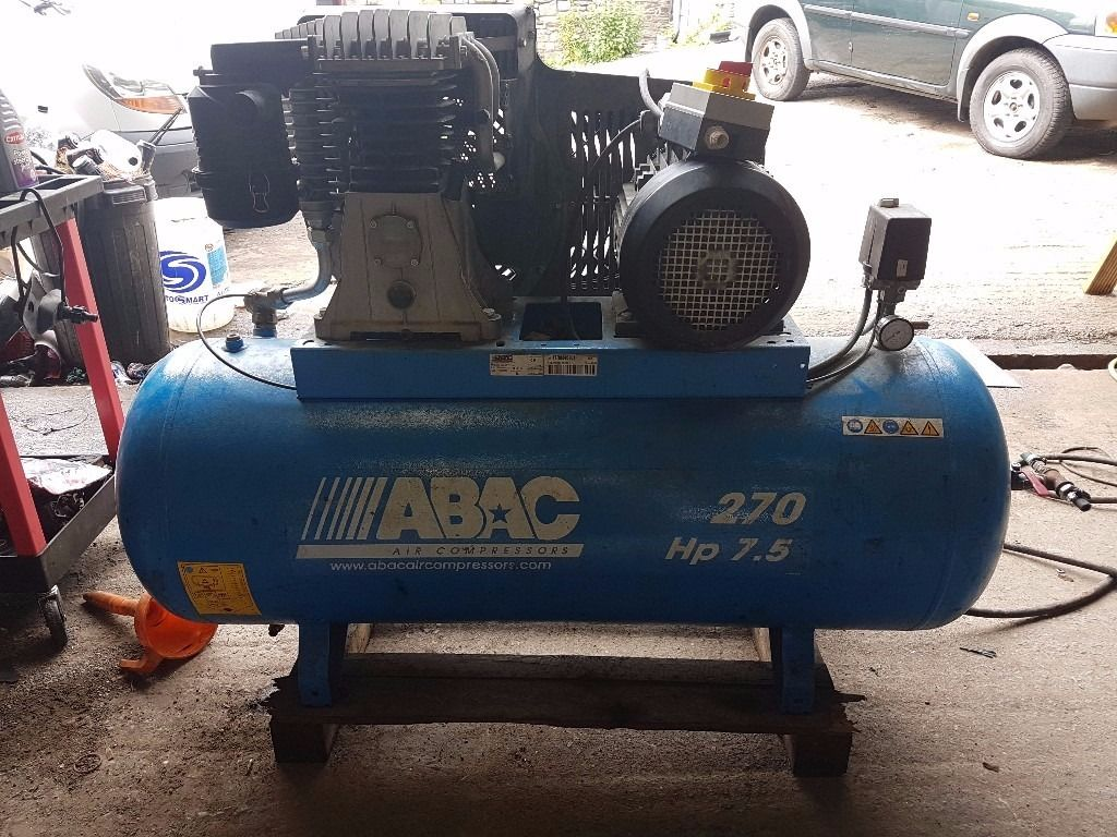 * ABAC 270 LTR 7.5 HP AIR COMPRESSOR IN IMMACULATE CONDITION *