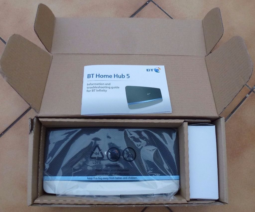 BT Home Hub 5 for Broadband, like new -in box