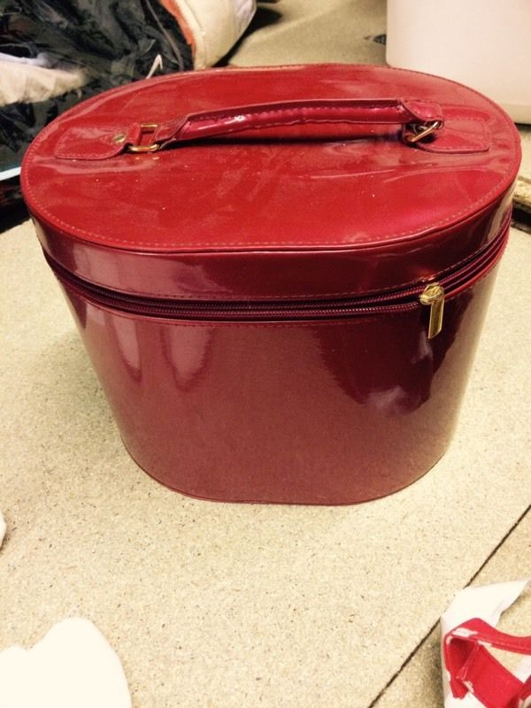 Red travel holdall