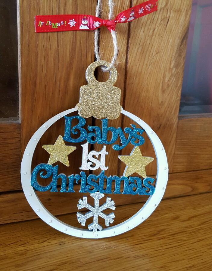 Babys 1st christmas bauble