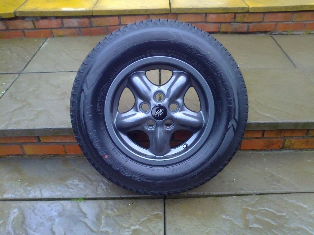 ALLOYS X 5 OF 16 INCH GENUINE DISCOVERY 2/RANGEROVER FULLY POWDERCOATED INA STUNNING ANTHRACITE NICE