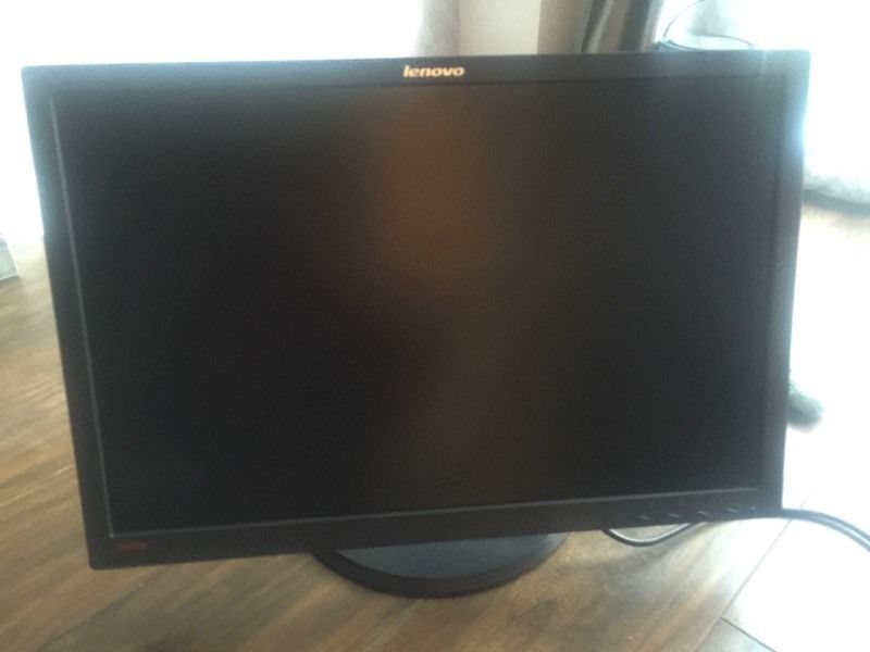 Lenovo 24in monitor - excellent condition.