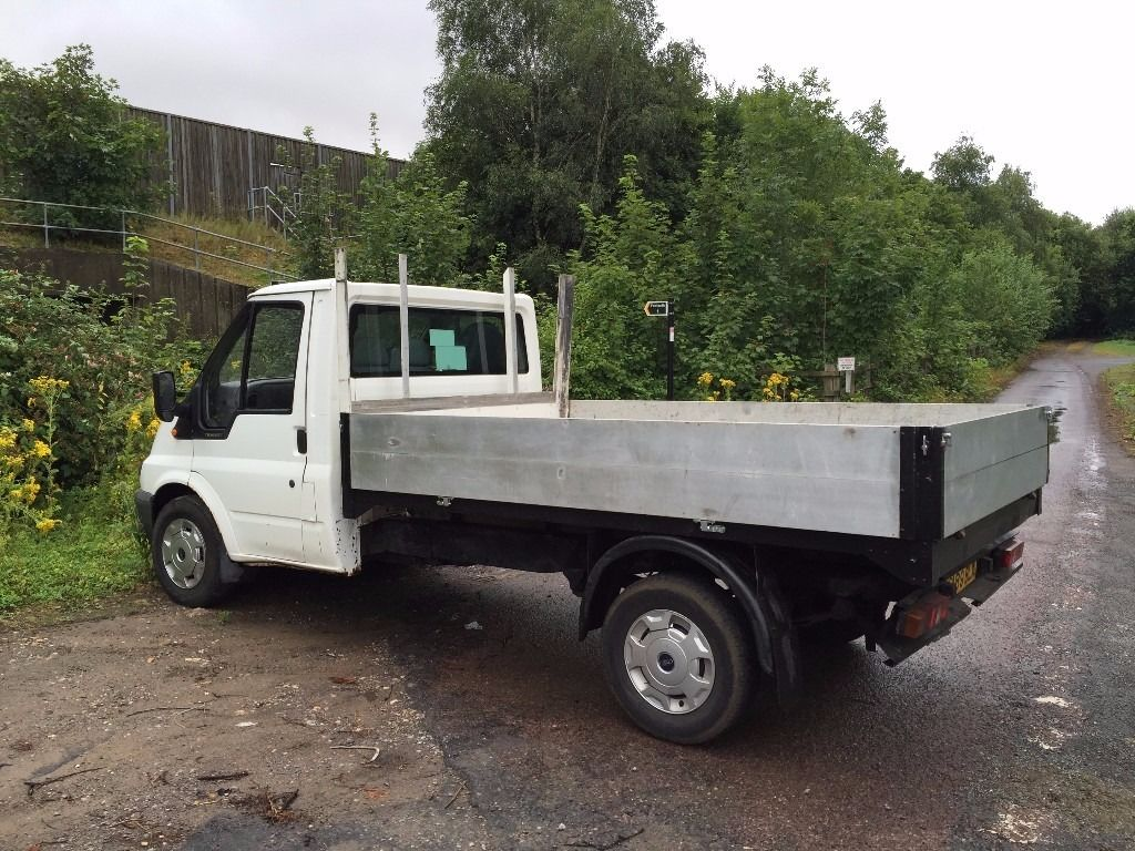 2000 X REG FORD TRANSIT FLAT BED ALLOY DROP SIDE TRUCK CHEAP WORK TRUCK