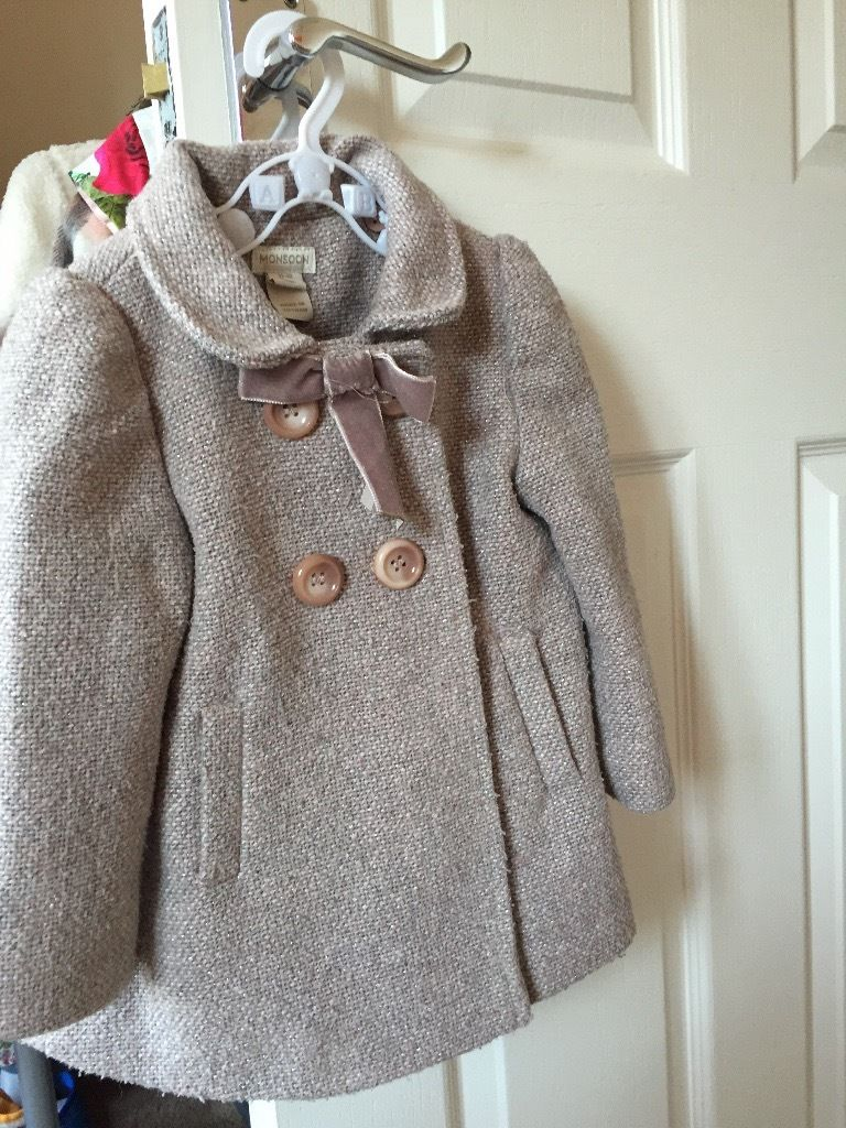 Monsoon Girls coat 12-18 months