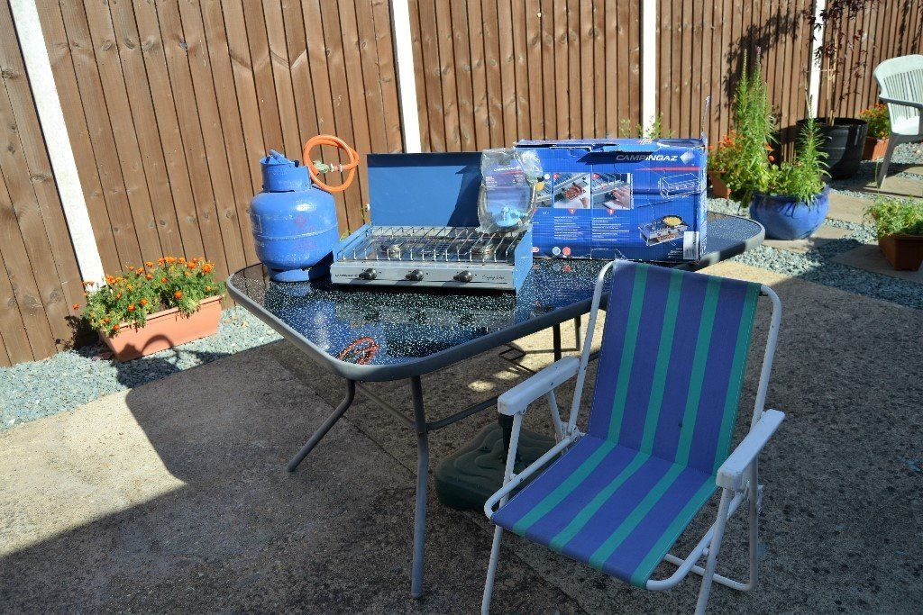 Camping stove and chairs for sale