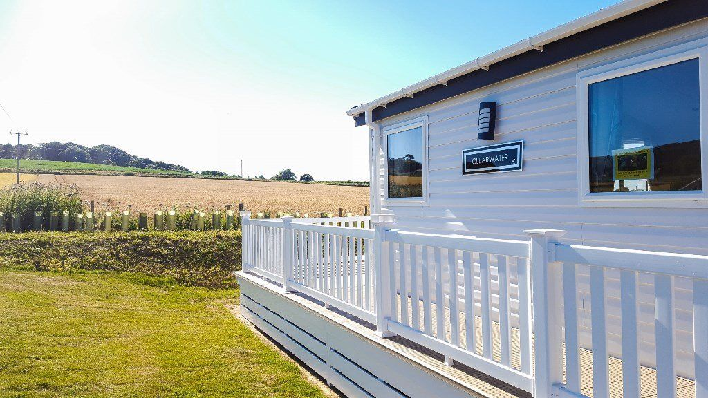 Luxury Lodge for sale on the Isle of Wight, decking included