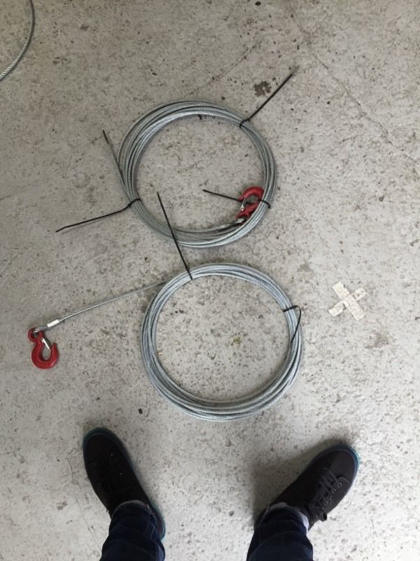 Winch cable 10m x2
