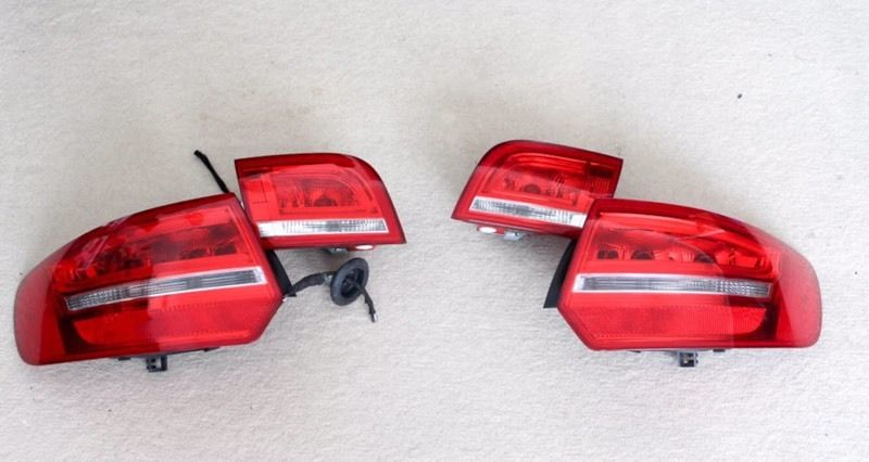 Audi A3 8p sportback genuine LED rear lights with wiring loom & connectors, Facelift upgrade