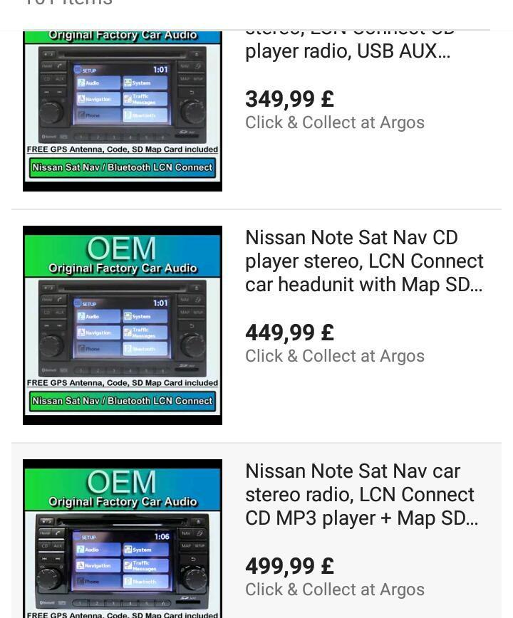 Nissan note car stereo bargain