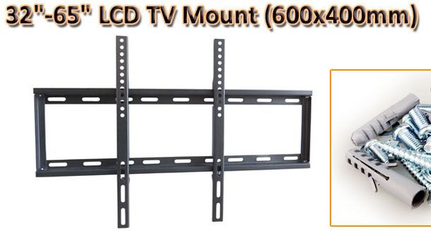 LCD LED Fixed TV Wall Mount Bracket for 32in to 65 Inches (65US)