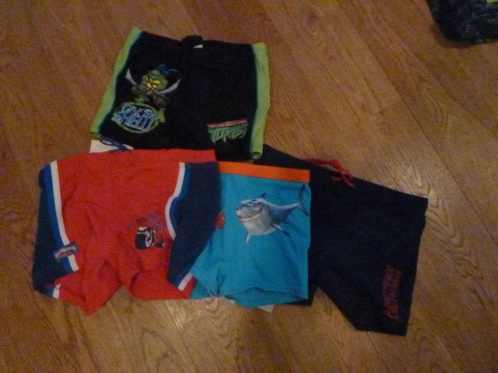 Various Boys swimming trunks ages 5, 6, 7,