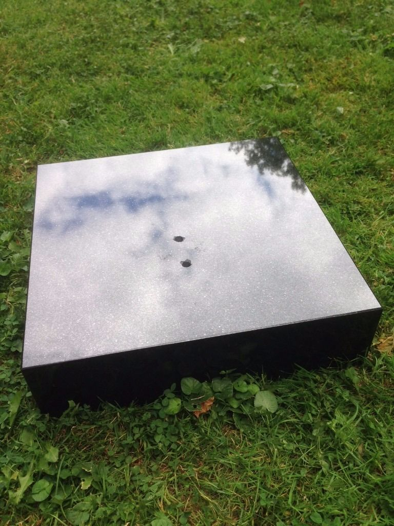Large Marble Statue Base - Black - very heavy MARBLE BLOCK