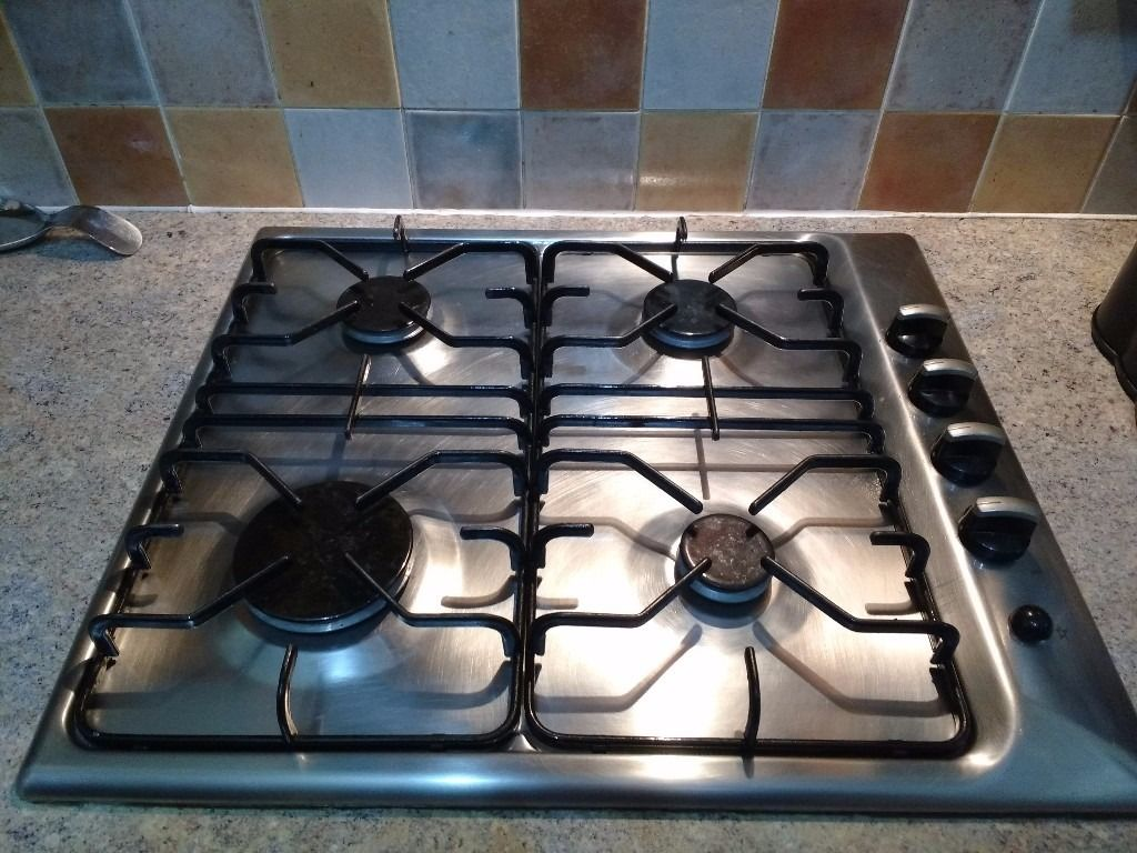 Electrolux stainless steel 4 ring gas hob