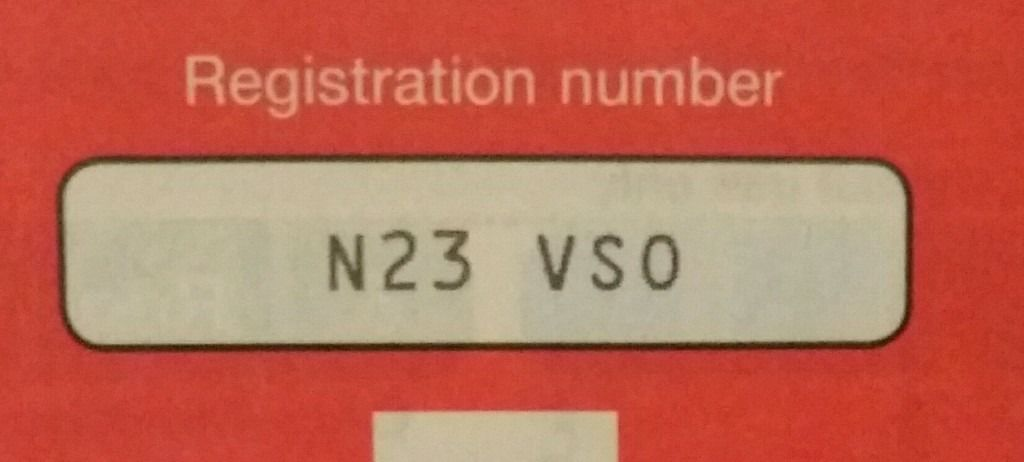 PRIVATE NUMBER PLATE ...N23 VSO...
