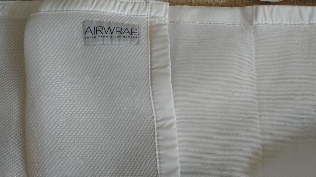Airwrap breathable cot bumper