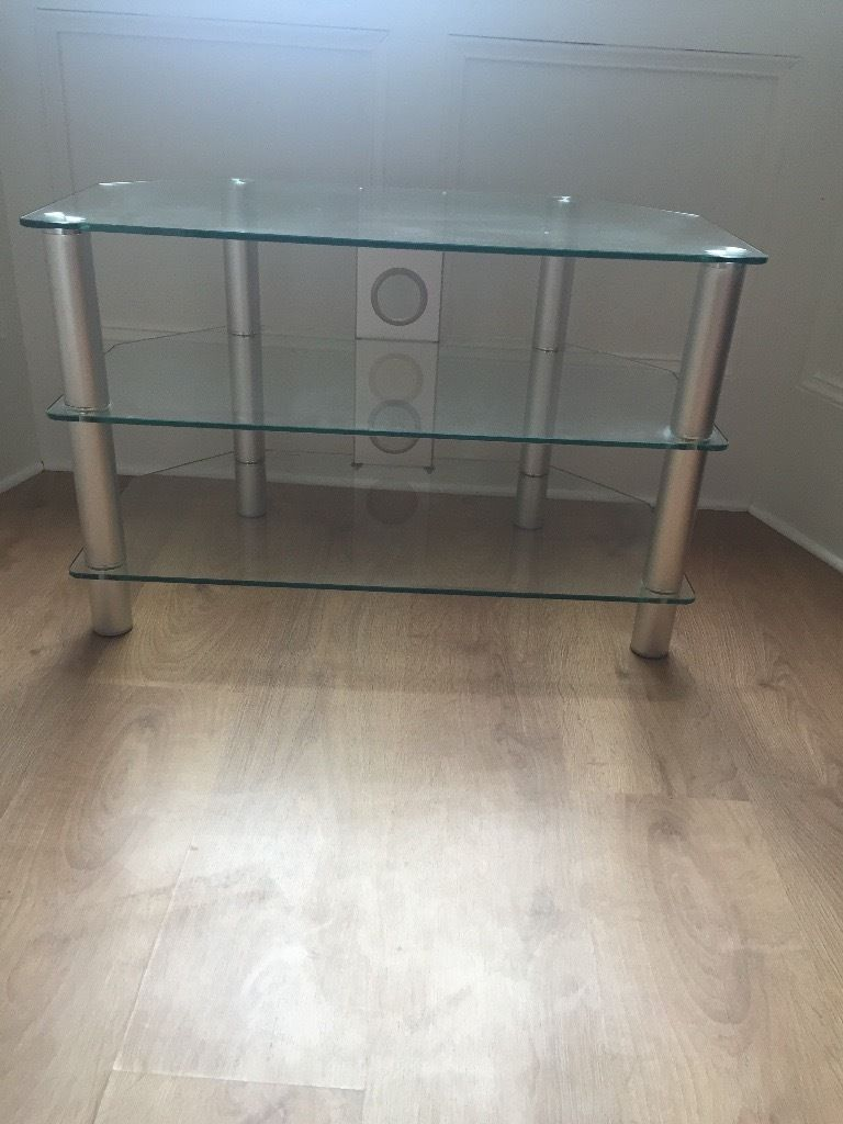 Brand new, unused glass TV stand