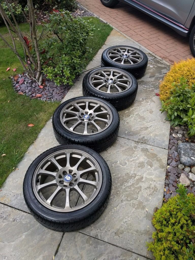 """SPARCO 17"""" alloy wheels (bronze) w/ Winter tyres - Mini Cooper fitment - 205/45 R17"""