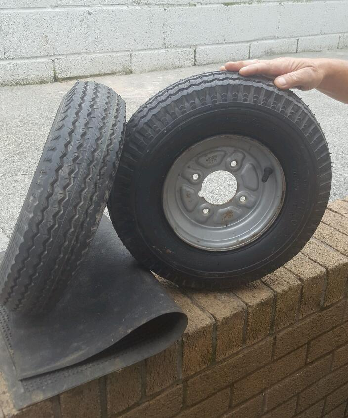 8 inch trailer wheels plus tyres