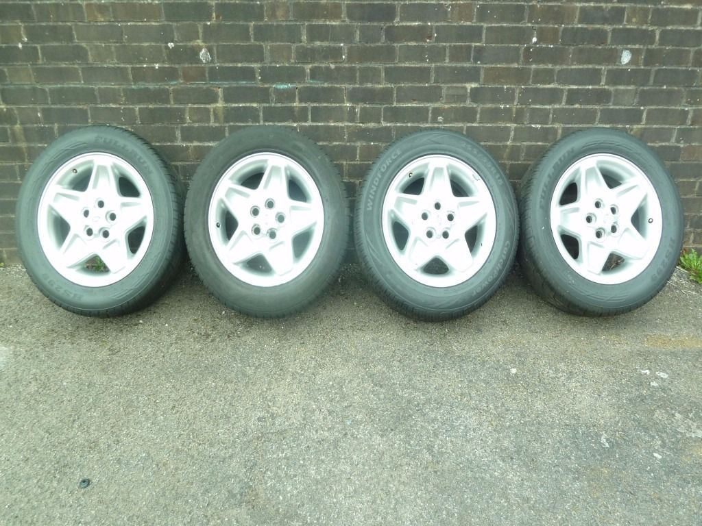 LANDROVER DISCOVERY2 Td5 MONDIAL ALLOY WHEELS + TYRES (also fit P38 Rangerover) X 4 wheels