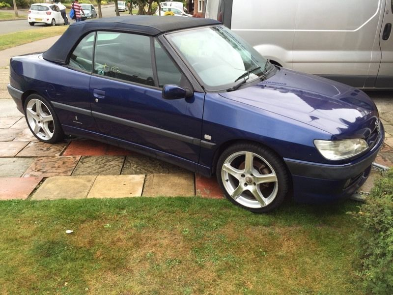 PEUGEOT 306 Cabriolet 2.0 petrol dark blue , BREAKING FOR PARTS