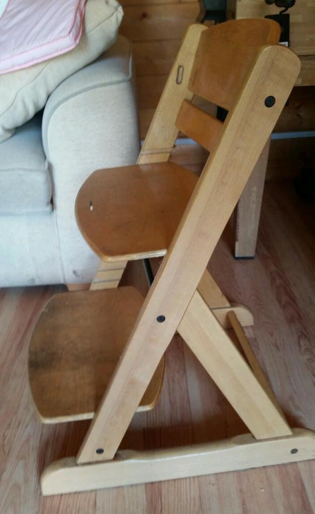 'O baby' wooden high chair