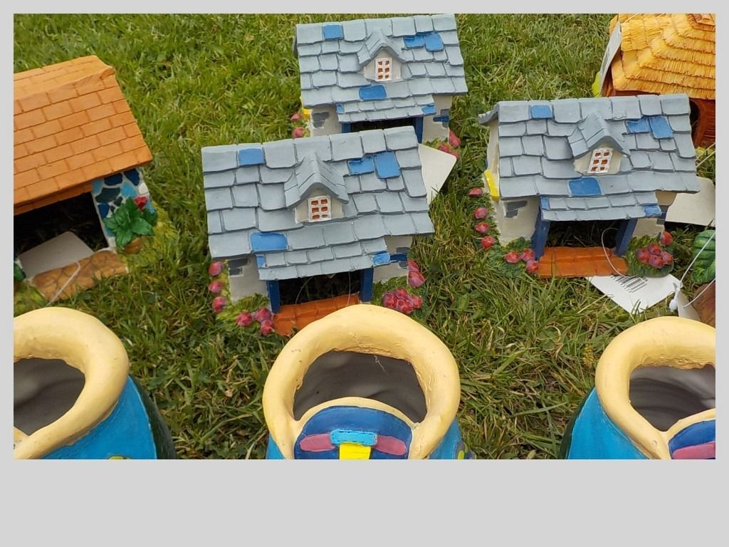 15 X HAMSTER HOUSES - SMALL RODENT - GARDEN ORNAMENT