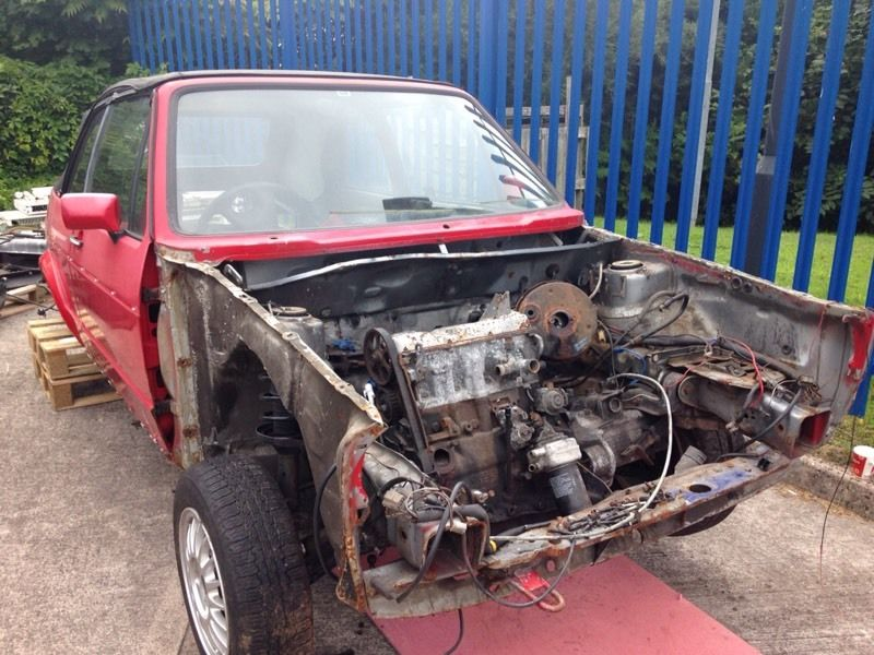 Golf GTi Cabriolet shell, engine and gearbox.