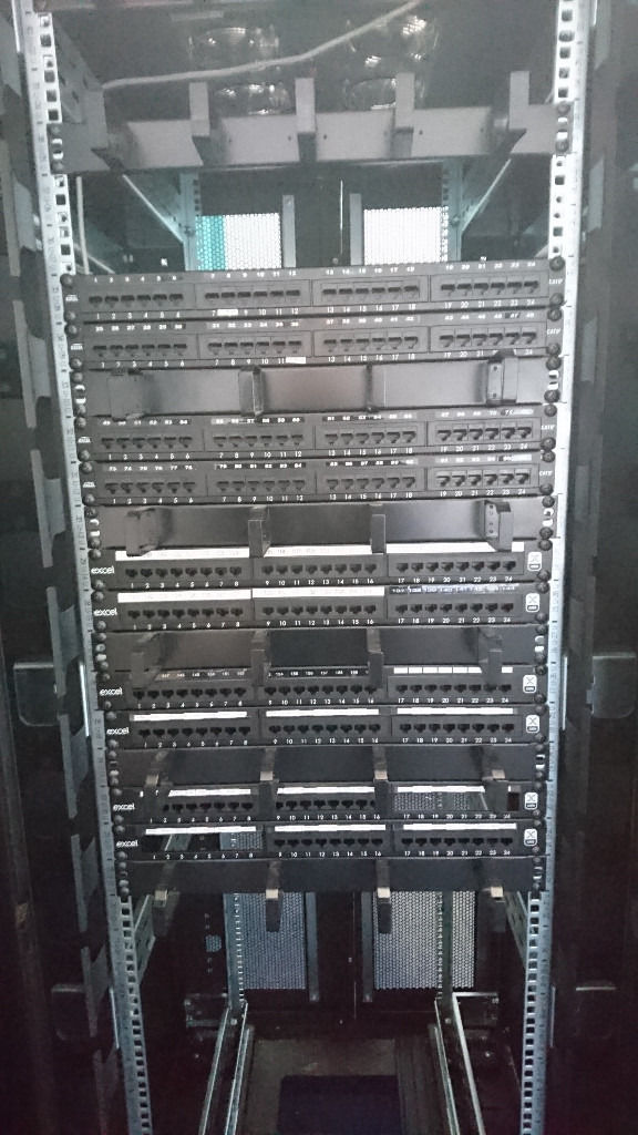 LARGE BLACK COMMS NETWORK CABINET