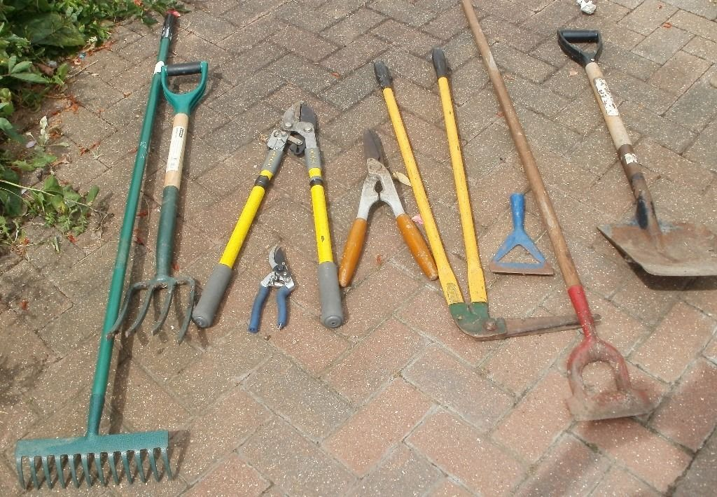Assortment of garden tools