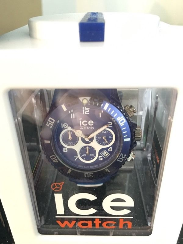 ICE watch, brand new. Chronograph blue strap.