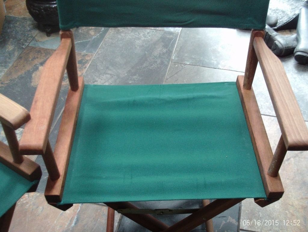 Directors green wooden folding chairs - new