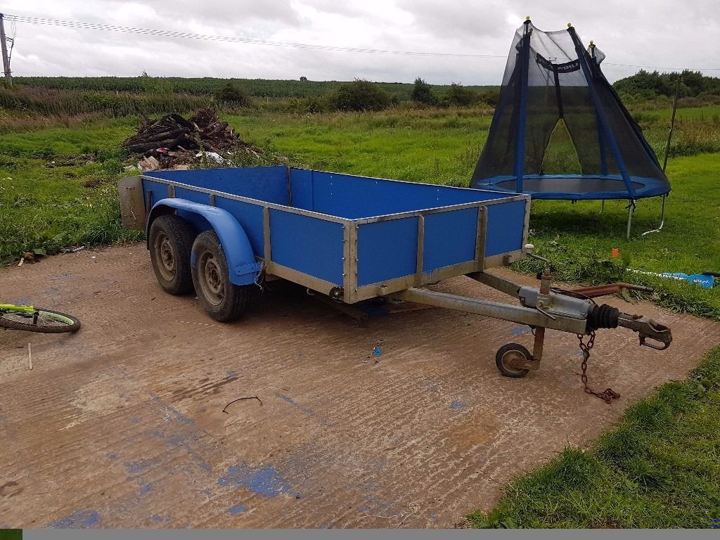 Large twin axle trailer 9ft x 6ft
