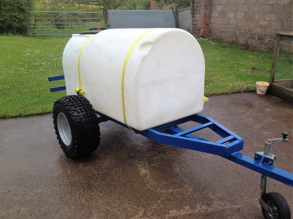 NEW- Fresh Water Transport Bowser Trailer for Field/Paddock or Events - 900Ltrs