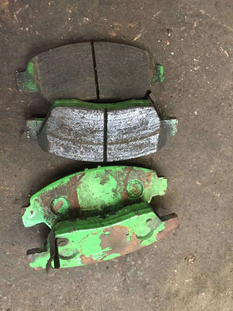 honda civic vti ek4 ej9 ek3 262mm green stuff front brake pads