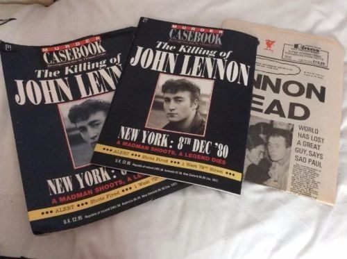 The killing of John Lennon. Special edition to include newspaper of the day
